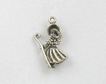 Sterling Silver 3-D Little Bo Peep Charm