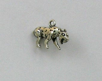 Sterling Silver 3-D Saber Tooth Tiger Charm