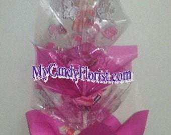 BALLERINA Candy Wand - DANCE Recital Presentation - Beautiful BALLET Candy Bouquet Award - Elegant, Edible  Gift w/ Ballerina Doll on Top