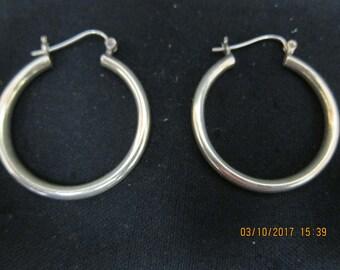 Sterling (.925) Hoop Earrings (Pierced)