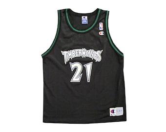 Vintage Kevin Garnett Timberwolves Black Champion Jersey