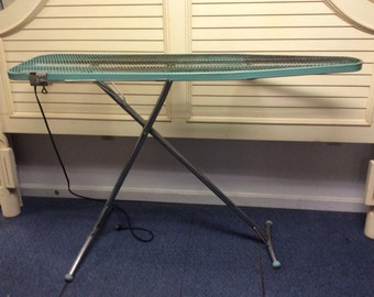 Vintage metal Ironing Board/ Serving Table/Laundry Decor