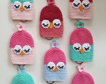 Owl Keycosy, Keycover, cozy, cotton, gift, keyring