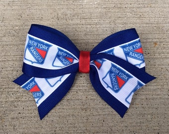 New York Rangers Hair Bow