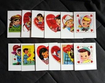 Polaroid love cards, Valentines day cards, vintage love illustrations on polaroid, valentines polaroid prints, set of 4-6-8-12 prints