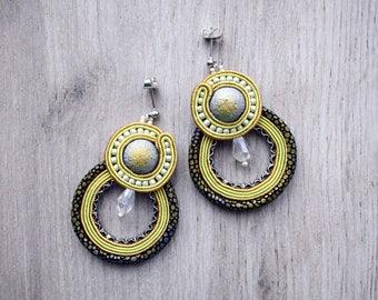 Dangle soutache earrings