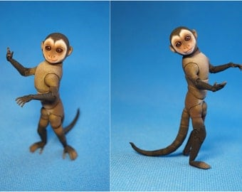 BJD Doll - Monkey Capuchin. Height is 13 cm (scale 1/3)