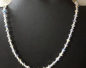 Swarovski Xilion Crystal AB Single Strand Necklace