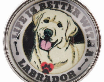 C0436  Everything is Better With a Labrador Art Glass Print Chunk