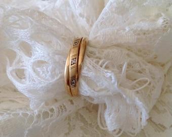 18K gold engagement ring, engagement ring, 18K gold ring, vintage ring, wedding ring, for her, love, endless love, infinite love.