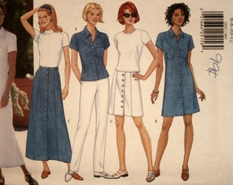 Misses Dress - Pants - Skirt - Top - Butterick 4892 - Sewing Pattern - New - Uncut - Size 6 - 8 - 10 - 12