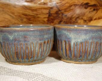 Ceramic Prep Bowls Set of 2, yogurt bowls, small soup bowls, desert plates, ice cream bowls, breakfast bowls