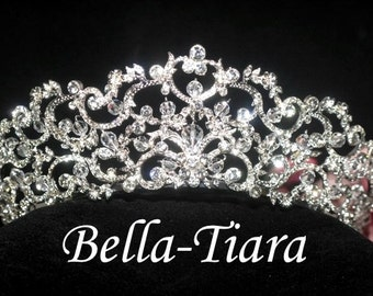 royal crystal wedding tiara, crown tiara, bridal tiara, wedding tiara, crystal crown tiara, princess tiara, crystal tiara, quinceanera crown