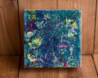 Amelie | abstract acrylic painting on 5x5 gallery wrap canvas | acrylic painting | textured