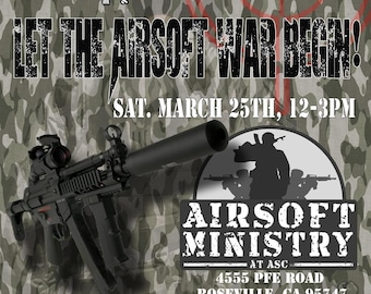 Airsoft Paintball Invitation