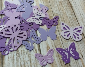 Paper Purple Passions butterflies die cuts  3 sizes wedding decorations, scrapbooking, weddings, 35 Purple double butterflies (70 cuts)