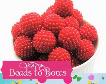 20mm Red Pearl Berry Rhinestone beads, Bubblegum Pearl Bumpy Bead, Pearl Look Rhinestone Beads, Chunky Bumpy Beads, DIY Bead Supply