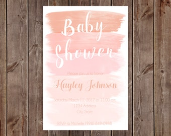 Watercolor Baby Shower Invitations-Printable Option