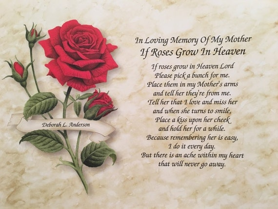 Memory Of Mother Sympathy Gift Condolence Gift Memorial Day