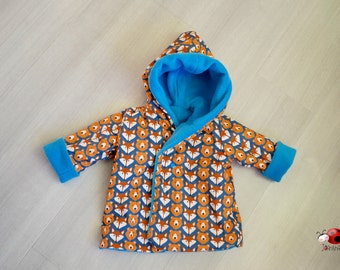 Cute winterjacket with foxes and bears for 6-9 month