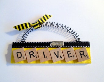 School Bus Driver Scrabble Tile Ornament