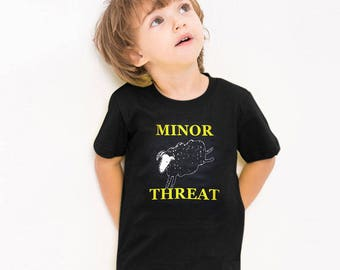 Minor Threat Vintage Retro Graphic Hardcore Punk Rock Music Band Cute Kids Boy Girl T-Shirt Tee Tops