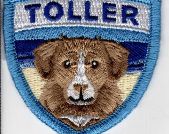Nova Scotia Duck Tolling Retriever (Toller) embroidered patches