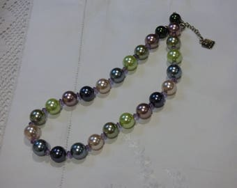 Simulated Lustre Pearl Necklace