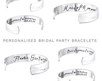 Bridesmaid gift | Bridesmaids Jewelry | Personalized Bridesmaids Gifts | Wedding Gift Ideas for Bridesmaids | Bridesmaids Bracelets (W274)