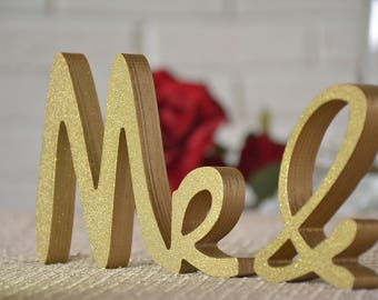 Gold Mr And Mrs, Gold Mr And Mrs Sign, Gold Mr And Mrs Wall Decor, Gold Mr And Mrs Table Sign, Gold Mr And Mrs Wedding Gift