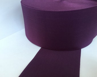3.2 in - 8 cm wide royal purple elastic, royal purple elastic, royal purple elastic webbing