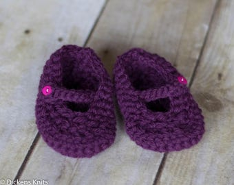 Baby Crochet Mary Jane Slippers, Mary Jane Baby , Baby Booties