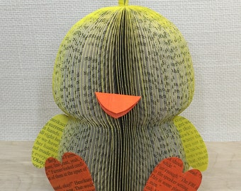 CHICK from FANNED Book PAGES • Easter • Spring •