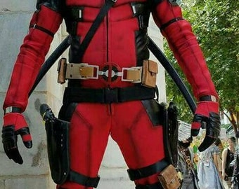 Deadpool Cosplay (Fitted) Suit&Mask ONLY!