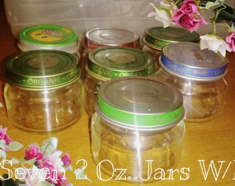 On sale now! Lot of 14; 2 Oz. Empty (residue free) Baby Food Jars W/Lids