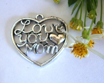 Love You Mom Charm/Pendant