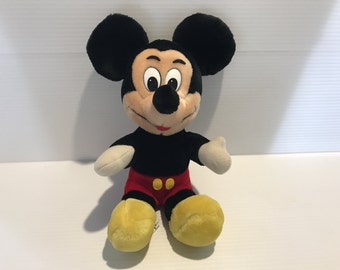 MICKEY MOUSE  plush toy, Vintage Walt Disney toy, vintage plush toy, vintage Mickey Mouse, Mickey Mouse gift, Walt Disney World Mickey Mouse