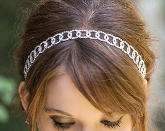 Bridal Hair Accessories Silver, Crystal Bridal headband, Bridal Headpiece, Bridal Headband Silver Rhinestone, Wedding Hair Accessories H33