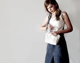 Box Bag In White