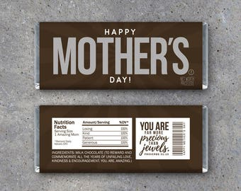 Happy MOTHER'S DAY Candy Bar Wrappers – Printable Instant Download – Mother's Day Gift Idea – Last Minute DIY Mothers Day Gift For Mom