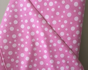 Pink Dots on Tonal Pink Background in Cozy Soft Flannel by Alpine Fabrics for Riley Blake Designs in 100% Cotton Flannel Sold by the Yard