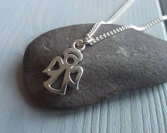 Angel Pendant Necklace | Silver Angel Pendant | Sterling Silver Angel | Silver Angel Jewellery
