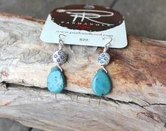 Cave Creek Turquoise Earrings by Panhandle Red