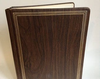 Vintage Wood Grain Photo Album for 7 1/2 x 3 1/2 Photos Mortifee Munshaw Made in Canada