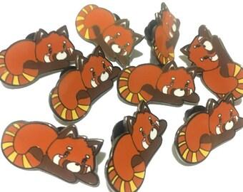 Red Panda Hard Enamel Pin