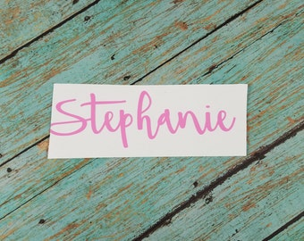 Personalized Vinyl Decal; Name Vinyl Decal; Metallic Name Decal; Yeti Decal; Name Sticker