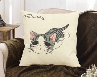 Cartoon Sleeping Cute Cat Sweet Home Pillow Case Home Decor Cushion Covers