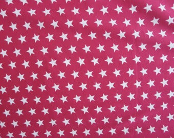 Fabric - Jersey fabric - Hot pink small star print knit - Cotton/elastane