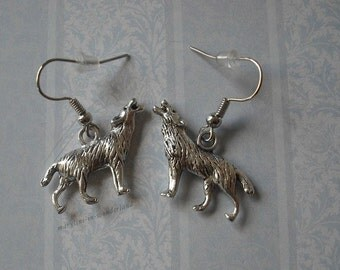 Silver Wolf earrings