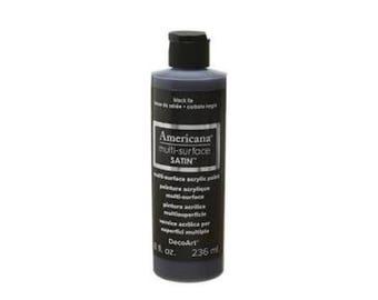 Black Acrylic Paint 8 oz. Bottle. SALE